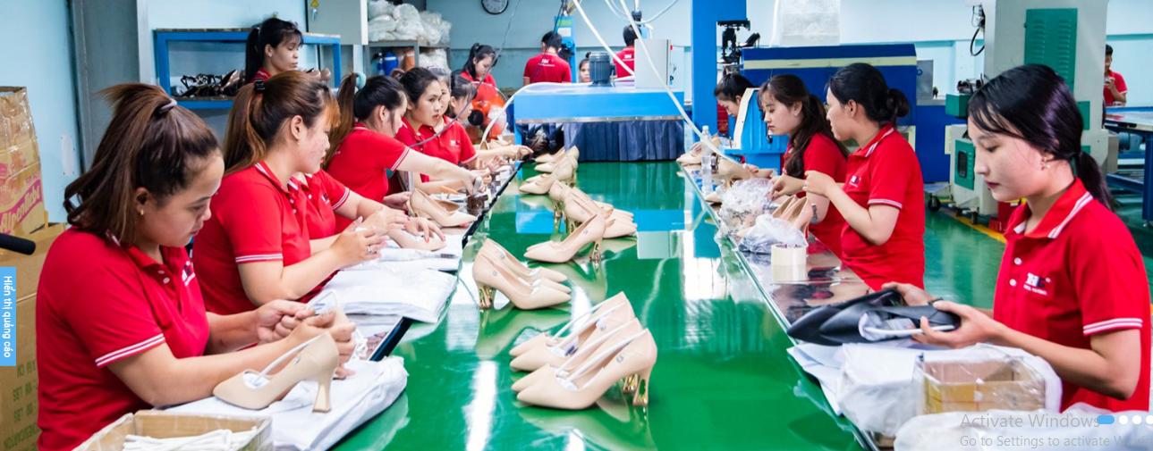 Tham quan quy trình sản xuất giày da Thiên Hương Shoes