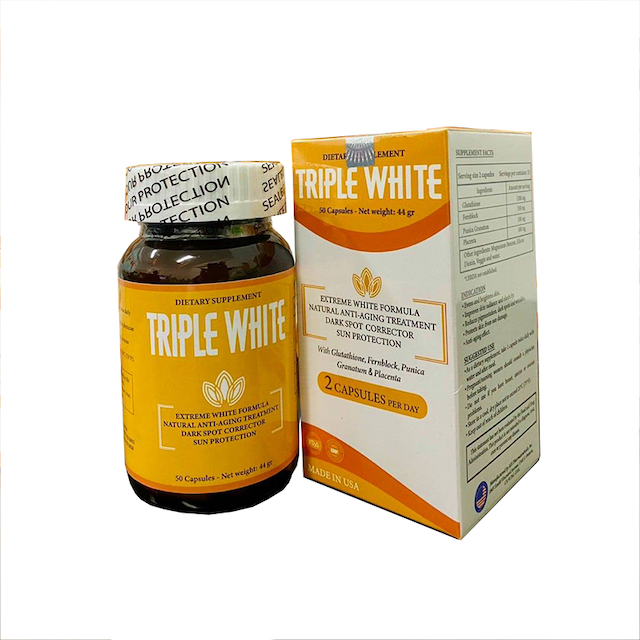 Kinh nghiệm để mua được viên uống trắng da Triple white có giá cạnh tranh